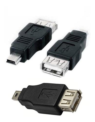 Adaptador Otg  Mini Usb 5 Pin -a -usb Hembra  Para Tablet