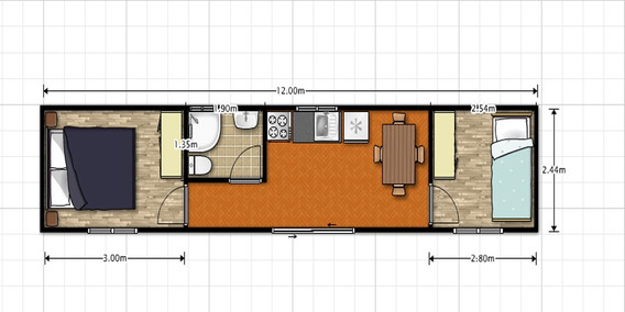 Modulo Casa Vivienda Complejo Container 34
