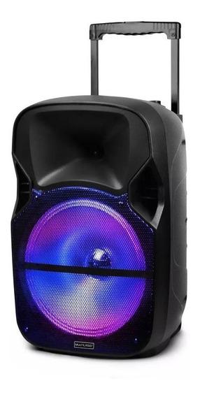 Som Amplificado Bluetooth Karaokê Usb Rádio Fm Aux P10 Ofert
