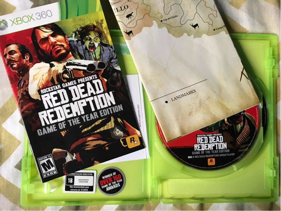 Red Dead Redemption Goty Xbox 360 Mídia Física Original