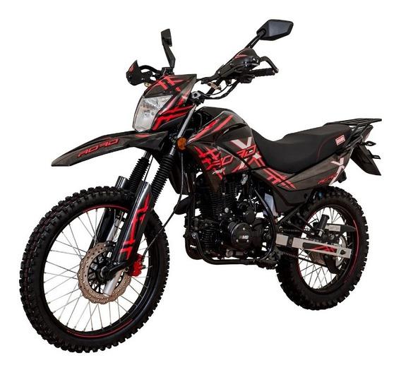 Motocicleta Doble Propósito Mb Xroad 200cc Roja