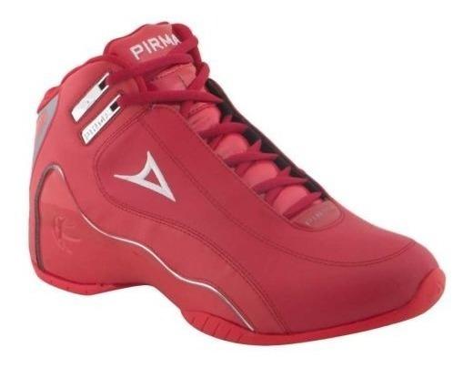 Tenis Para Basketball Caballero Pirma Brasil Color Rojo - Blanco 820813 Urbano 2-19 D