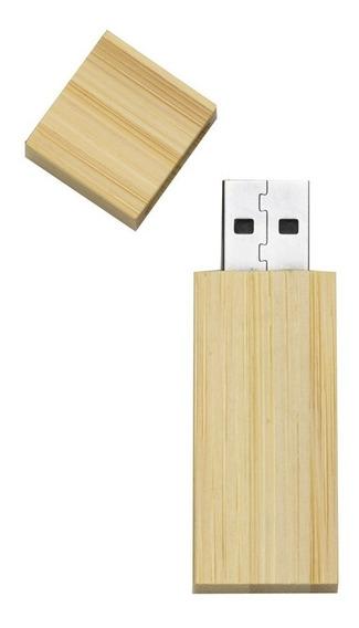 10 Pen Drive Bambu/madeira De 4gb, Modelo Moderno, Ecológico