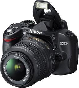 Câmera Prof Nikon D3000 - Acompanha Mochila + Cabos + Mc 8gb
