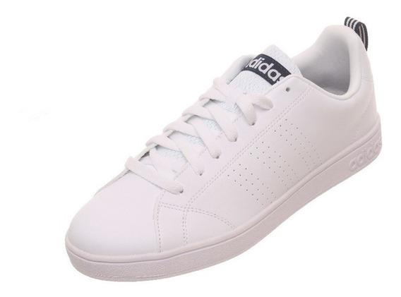Tenis adidas Advantage Clean Blanco / Azul Envío Gratis