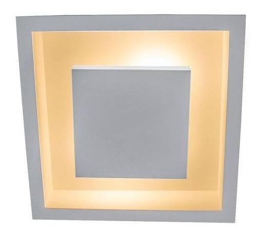 Plafon Embutido Teto Gesso Luz Indireta Sala/quarto 25x25