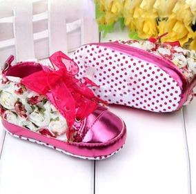 Zapatos Tenis Para Bebe Niña Diseño Flores