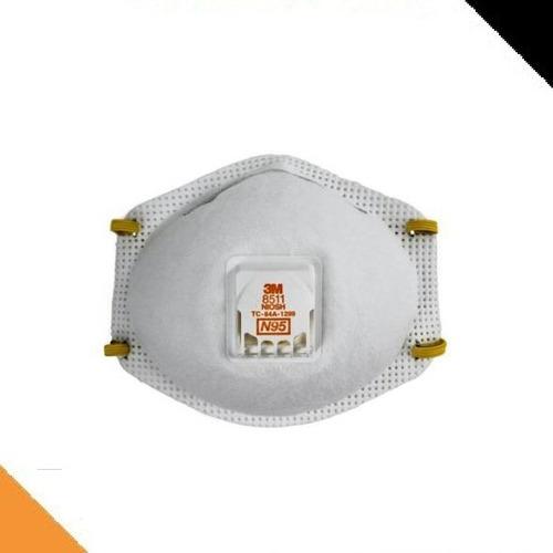 Barbijo Respirador Mascarilla N95 3m 8511 Con Valvula X 10 U