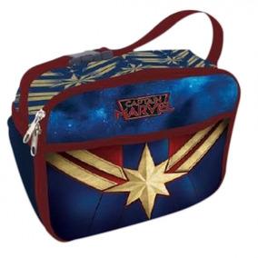 Lancheira Térmica Capitã Marvel 2 Bolsos Artgeek