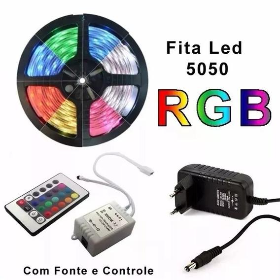 Fita Led 5m Rgb 16 Cores 5050 Pro D