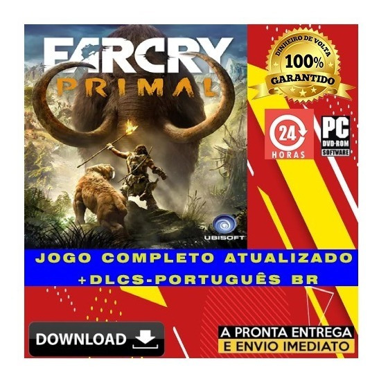 Far Cry Primal Pc + Todas Dlcs Ultra Hd - Portugues + Brinde