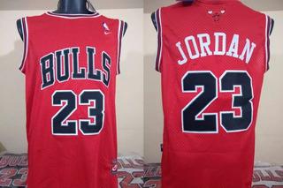 Jersey Jordan (23) Chicago Bulls Nike Bordado Rojo