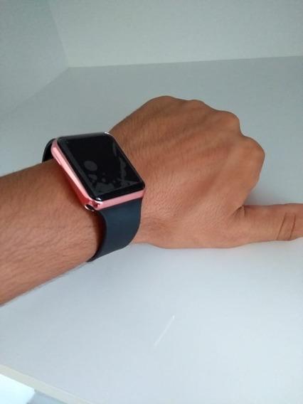 Relógio De Pulso Digital Led Masculino Feminino Rosê Barato