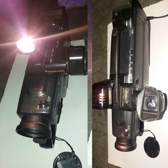 Filmadora Panasonic-viewfinder Color 14x Funcionando Leia