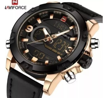 Relógio Masculino Naviforce 9097 Top Luxo Original S/ Caixa