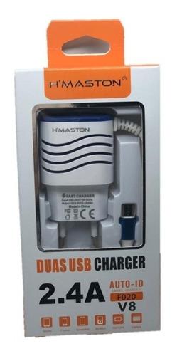 Carregador H'maston 2.4a F020 Duas Usb Charger