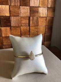 Bracelete Folheado À Ouro 18k Com Zircônias