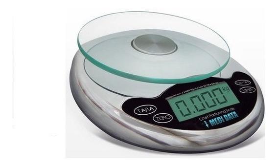 Báscula Digital Para Cocina Cap. 2kg Cromada