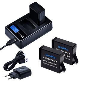 Carregador Duplo +2x Bateria Gopro Hero 5 6 7 Black 1600mah