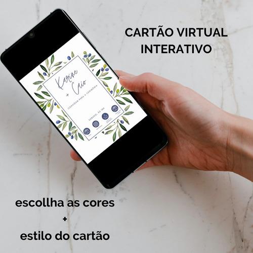Imagem 1 de 4 de Cartão Virtual Interativo Convite De Casamento