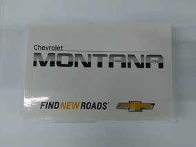 Manual Do Proprietário Completo Nova Montana Genuíno Gm