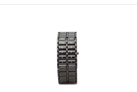 Relógio Masculino Preto De Pulso Binary Led Display Digital