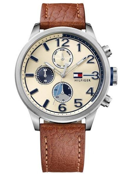 Relógio Luxo Tommy Hilfiger Th1791239 Orig Chron Anal Silver