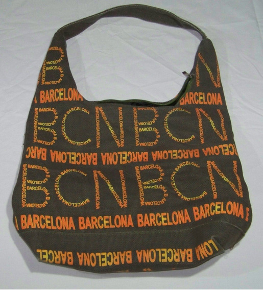 Bolso Cartera Gondola Lona Barcelona - Buen Regalo- La Plata