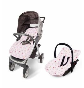 Capa Acolchoada Carrinho Bebê Conforto Moisés Menina Menino