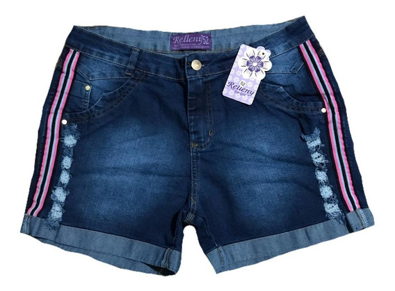 Short Jeans Plus Size Listra Neon