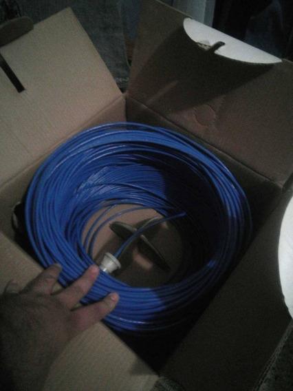 Cable De Red Azul 250 Metros En Su Caja