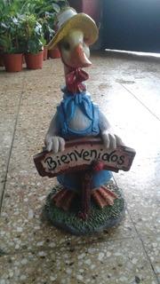 Pato De Bienvenida Adornos De Jardín Interior Exterior