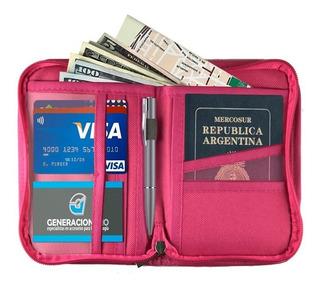 Organizador Viaje Porta Pasaporte Documento Tarjeta Premium