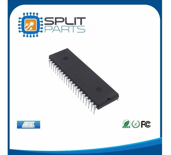 Microcontrolador Atmel At89c51-24pi 40 Pinos At89c51