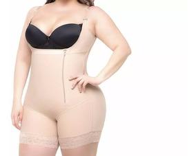 Cinta Body Modelador Compressão Macaquinho Com Perna