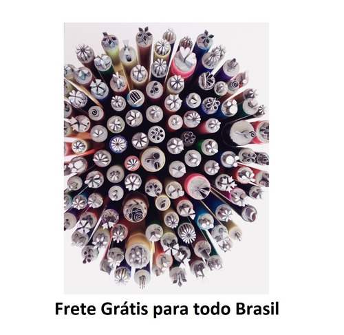 Carimbos De Adesivos De Unhas Kit Com 10+brinde+frete Grátis
