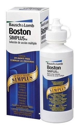 Imagen 1 de 2 de Liquido Boston Simplus Solucion Lentes Rigidas Bausch Y Lomb