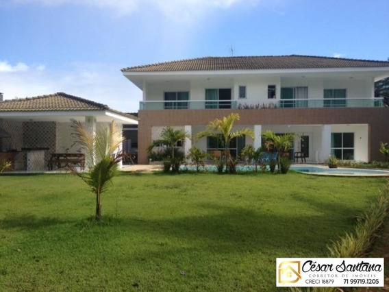 Casa Alto Padrão - Condomínio Encontro Das Águas - Lauro De Freitas - Ca00404 - 33443744