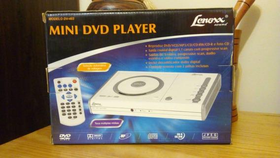 Mini Dvd Player Lenoxx Dv403 C/ Defeito P/ Retirada De Peças