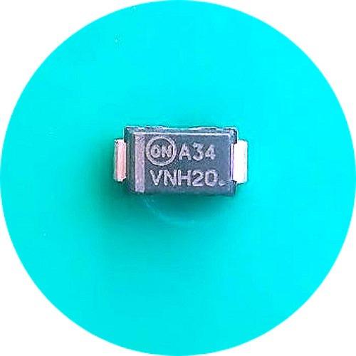 Mbra340 ( Kit C/ 5 ) Diodo Mrra340 40v 3a Mbra340t3g A34