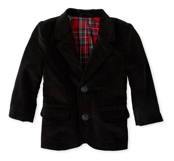 Saco Blazer Negro Americano Tipo Gamuza Niño Childrens Place