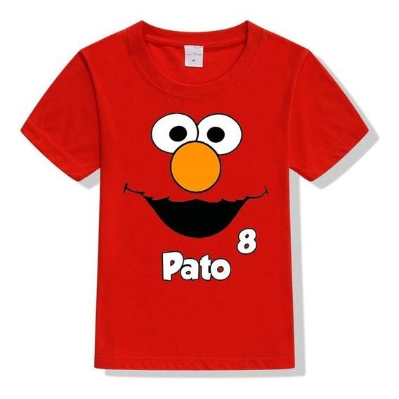 Playera O Camiseta Elmo Plaza Sesamo Personalizada Unisex