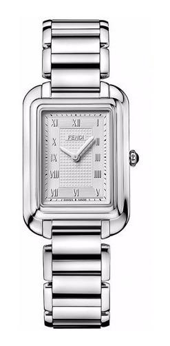 Reloj Fendi Classico Rect Acero Inox Plata Mujer F701036000