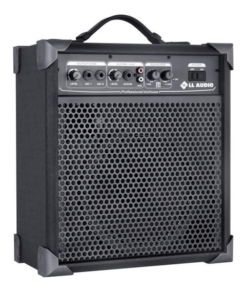 Caixa Ativa Amplificada Multiuso 15 Watts Ll Áudio Lx60 Nca