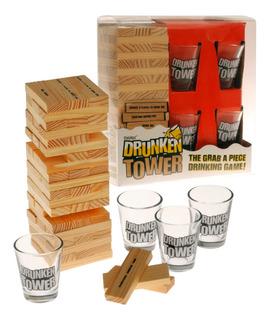 Drunken Tower Jenga Shots Yenga Drinking Juego Fiesta Mesa