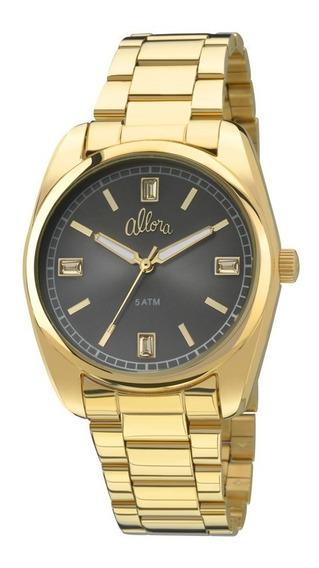 Relógio Allora Dourado Novo Frete Grátis Al2035fao/k4c Nfe