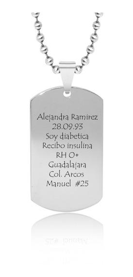 Dije Personalizado Identificación Grabado Láser Placa C.200