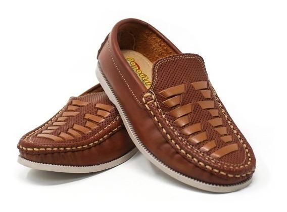 Zapato Mocasin Para Niño Color Miel Tipo Gallito