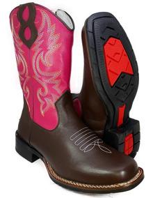 Bota Feminina Country Texana Menina Bico Quadrado T9015