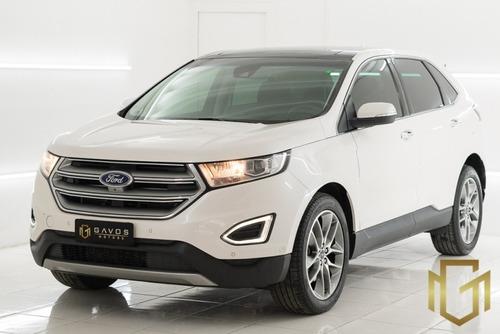 Imagem 1 de 15 de Ford Edge Titanium 3.5 Awd 2016 Branca